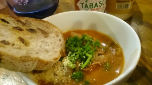 雑穀とベーコン、かぶらのスープ。あったまろ。