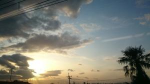 大阪の冬はゆふぐれ。